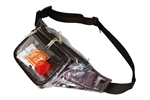 B1108-Clear 3-Zipper Fanny Pack