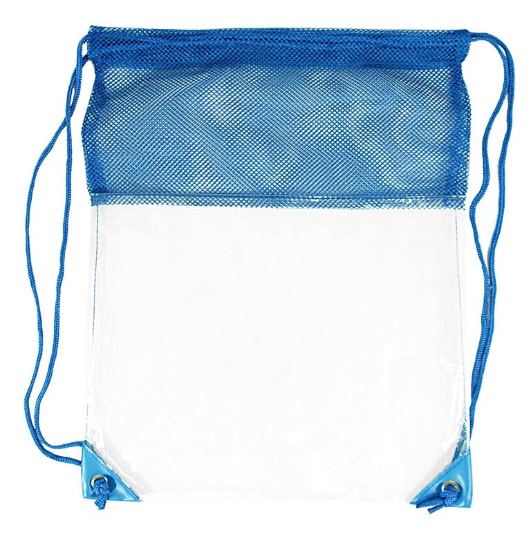 B3072 - The Clear Vinyl Mesh Drawstring Backpack 0a1b3a34d