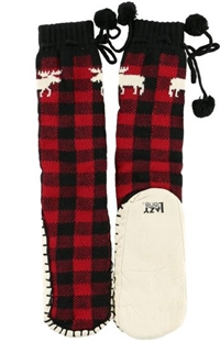 Plaid  Moose MUKLUK Slippers