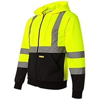 Hi-Viz Full Zip Hooded Soft Shell