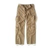 MENS KHAKI VINTAGE PARATROOPER FATIGUE PANT