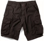 Men's Black Vintage Cargo Shorts