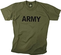 Children's Olive Drab Army Physical Training t-shirt
