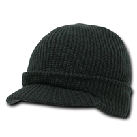 Black GI Wool Jeep (Radar) Cap
