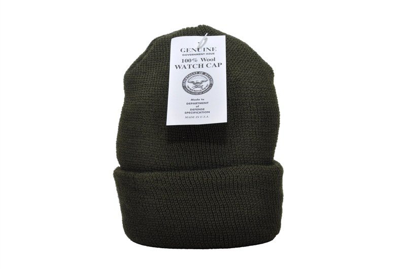 Genuine Military Issue Wool Watch Cap ed68897ac49c