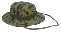 USMC Woodland Digital Boonie Hat