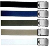 "GI 60"" WEB BELT WITH SILVER BUCKLE"