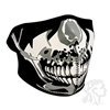 CHROME SKULL NEOPRENE HALF MASK