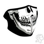SKULL FACE NEOPRENE  HALF MASK