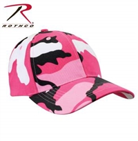 LOW PROFILE CAMO BALL CAP PINK