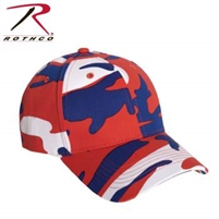 LOW PROFILE CAMO BALL CAP RED/WHITE/BLUE