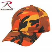 LOW PROFILE CAMO BALL CAP ORANGE