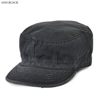 VINTAGE BLACK FATIGUE HAT