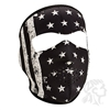 Full Mask, Neoprene, Black/White Vintage Flag