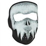 GREY SKULL GLOW IN DARK NEOPRENE MASK