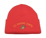 RED MARINE KNIT CUFF CAP