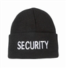 BLACK SECURITY KNIT CUFF CAP