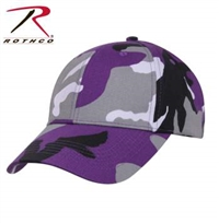 LOW PROFILE CAMO BALL CAP ULTRA VIOLET