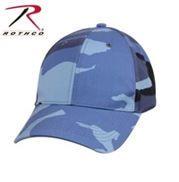LOW PROFILE CAMO BALL CAP BLUE