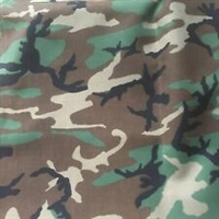 Woodland Camo Cordura Nylon Fabric