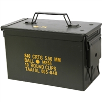US GI SQUAD AUTOMATIC WEAPON (SAW) AMMO CAN