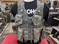 Used ACU Tact Vest W/Pouches