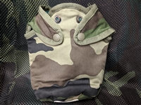 USED FRENCH CAMOUFLAGE CANTEEN COVER