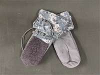 Military Issue Arctic Mittens - ACU Camo