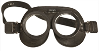 German Military Black Rubber Goggles
