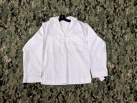 US NAVY WHITE MIDDY SAILOR BLOUSE