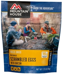 MOUNTAIN HOUSE SCRAMBLED EGGS W/BACON