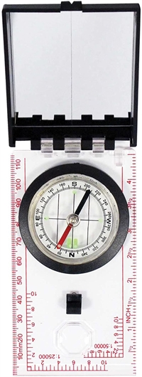 Map Compass with Sighting Mirror