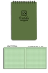 "Rite In The Rain All Weather 4'' X 6"" Pocket Notebook - Green"