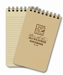 "Rite In The Rain All Weather 4'' X 6"" Pocket Notebook - Tan"