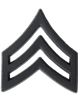 Black Metal Rank Sergeant (E-5)