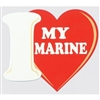 I LOVE MY MARINE STICKER