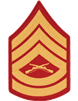 Gold/Red Male Chevron Gunnery Sergeant USMC (Pair)
