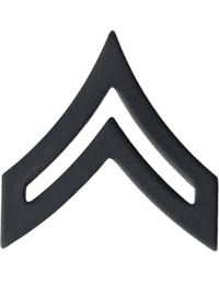 Black Metal Rank Corporal (E-4)