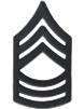 Black Metal Rank Master Sergeant (E-8)