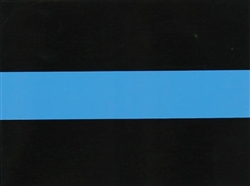 THIN BLUE LINE STRIPE DECAL
