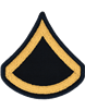 Army Dress Chevron Gold on Blue E-3 Private First Class (Pair)