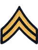 Army Dress Chevron Gold on Blue E-4 Corporal (Pair)