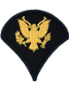 Army Dress Chevron Gold on Blue E-4 Specialist (Pair)