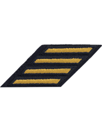 Army Dress Uniform Service Stripes Gold on Blue (Each)