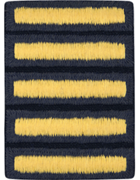 Army Dress Uniform Overseas Bars Gold on Blue (Each)