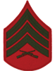 Green/Red Male Chevron Sergeant USMC (Pair)