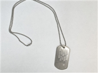 CUSTOM SINGLE STAINLESS STEEL DOG TAG