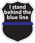 STAND BEHIND THE BLUE LINE DECAL