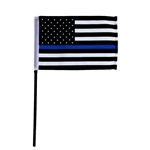 "4"" X 6"" THIN BLUE LINE STICK FLAG"