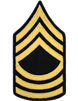 Army Dress Chevron Gold on Blue E-8 Master Sergeant (Pair)
